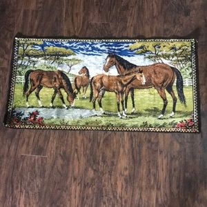 Vintage horses wall hanging cowboy country rustic